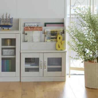 【在庫処分】カウンター下ブックラック キッチン リビング収納 整理棚 マルチ収納 Lycka land プラス