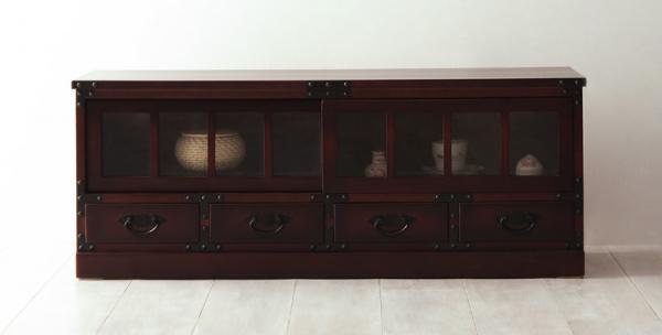 チェスト タンス たんす 和たんす 箪笥 民芸タンス 収納家具 桐 ローボード 幅100センチ 完成品 送料無料 おしゃれ かわいい
