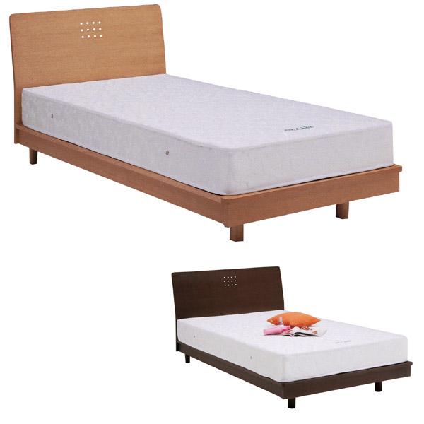 ベッド シングル シングルベッド 幅100cm 天然木 タモ スノコ ダークブラウン ナチュラル 選べる2色 北欧 フレームのみ スノコ 激安 送料無料 おしゃれ かわいい