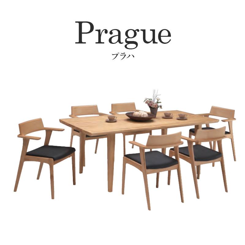 スーパーSALE中P2倍 プラハ7点セット ダイニングテーブルセット ダイニング セット 高級感 PVC 北欧 モダン シンプル おしゃれ オシャレ リビング シック 木 大人 おすすめ テーブル チェア リビングテーブル
