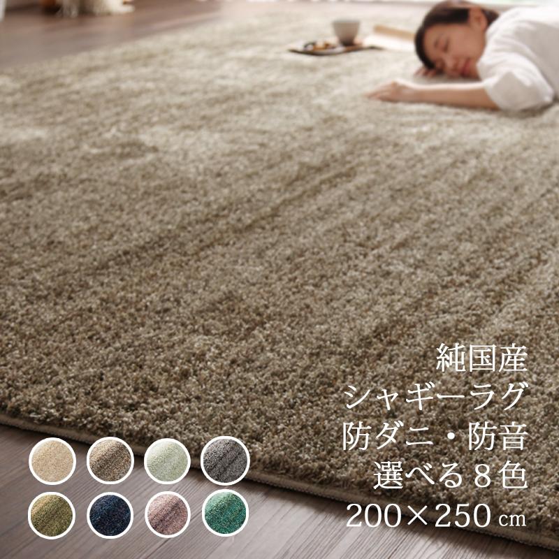 ★全品p2倍★ラグ ラグマット カーペット 200×250 シャギーラグ ラグマット北欧 日本製 絨毯 リビング  デザイン重視 送料無料 おしゃれ かわいい