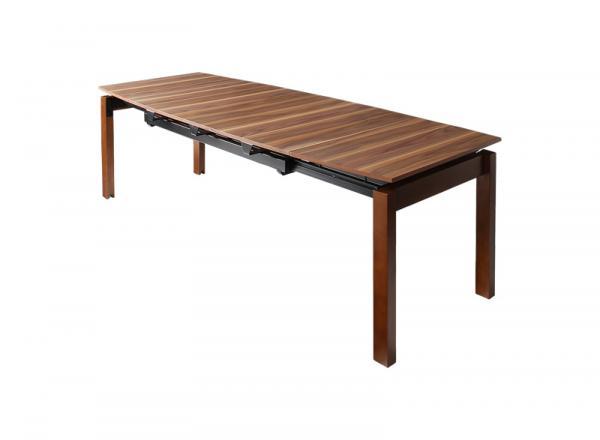 ダイニングテーブル テーブル 伸長式テーブル幅 140cm~240cm ダイニングテーブル ウォールナット 天然木 デザイナーズ モダン テーブル 木製 シンプル おしゃれ 北欧テイスト