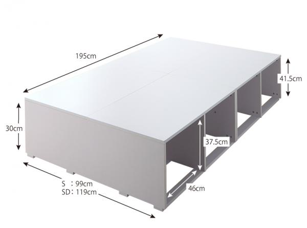 ★全品p2倍★ベッド ベッドフレーム シングルサイズ 引き出しなし 大容量 新生活 幅99cm 長さ195cm 高さ41.5cm 木製 ホワイト 北欧 フレームのみ 布団でも使える 送料無料 おしゃれ かわいい