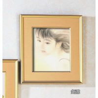 おおた慶文色紙額(小) 気流 金フレーム 20723