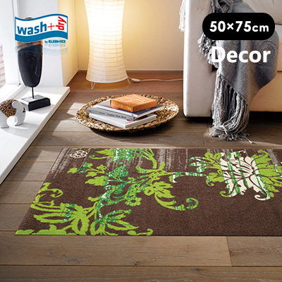 玄関マット wash+dry(ウォッシュアンドドライ) 屋外 室内 北欧 クライン / Elisa taupe 75×120cm