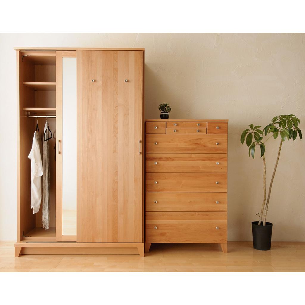 スライドワードローブ 幅120 クローゼット ワードローブ 木製 モダン ウォールナット 高級 北欧 数量限定 オーク 人気商品