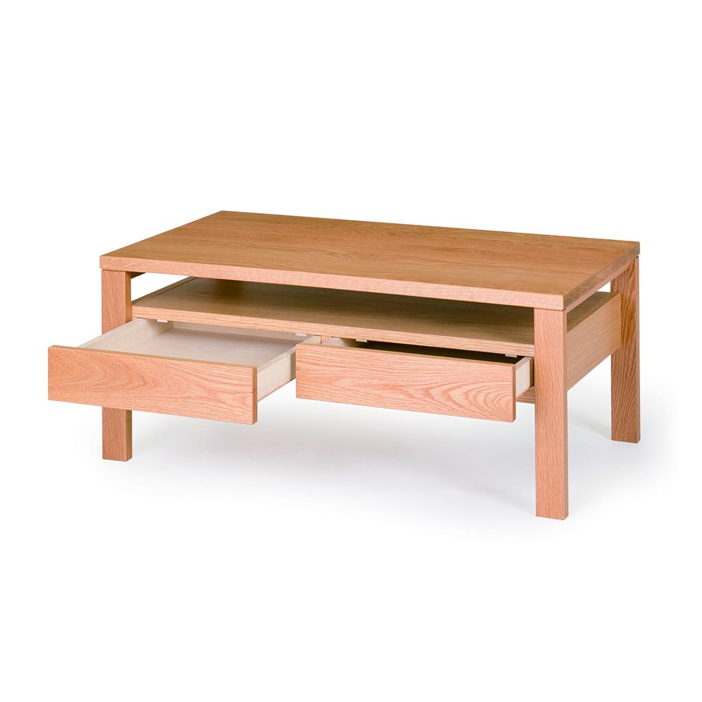 リビングテーブル センターテーブル オーク 交換無料 ウォールナット 幅90 W90 木製 引き出し モダン 直営限定アウトレット 無垢材 北欧 天然木
