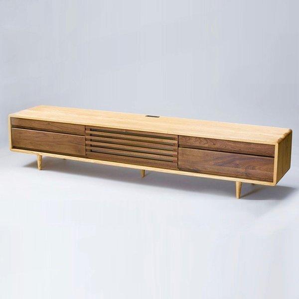 匠デザイン 幅200 TVボード テレビボード テレビ台 ナチュラル 木製 無垢 和モダン おしゃれ 北欧 ウォールナット シンプルモダン 4K 65型 60型 55型