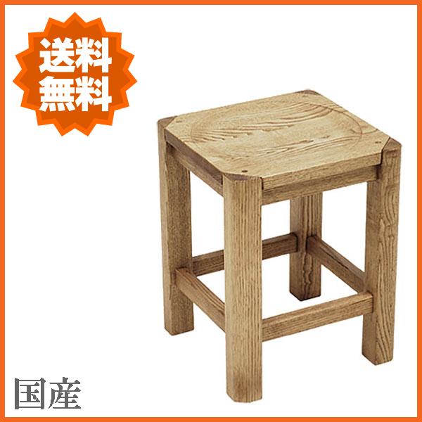 スツール 北欧 角スツール 木製 椅子 無垢材 カントリー 花台 ナチュラル 日本製 国産 高級 遊木舎 送料無料 通販 G01 【yub】