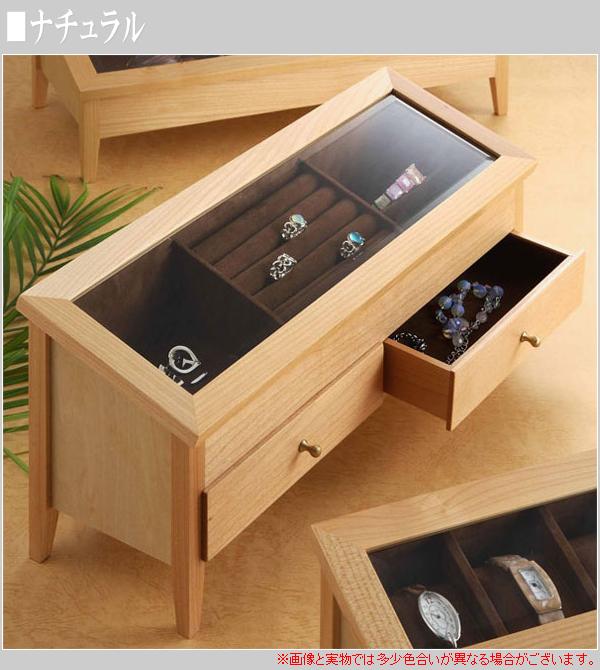 アクセサリーケース 木製 ジュエリーケース ガラスケース コレクションケース 北欧 ジュエリーボックス ジュエリー 収納 アクセサリー 収納  通販 【ken】【smtb-f】