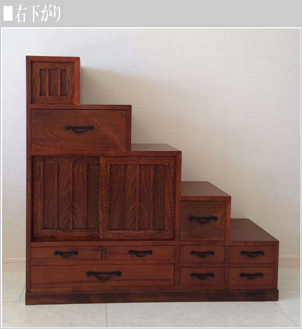 Stair Chests Right Side Down Stairs Closet 左下gari Stair Dance Japanese Stair  Chest Width 90 Cm Stairs Drawers Stairs Wooden Chest Luxury Japan Made ...