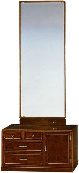 【開梱設置無料】 座鏡 和風 鏡台 ドレッサー 一面鏡 姿見 欅 化粧台 高級 メイク台 日本製 国産 うるしん 送料無料 通販 古代 YK409 【kam】