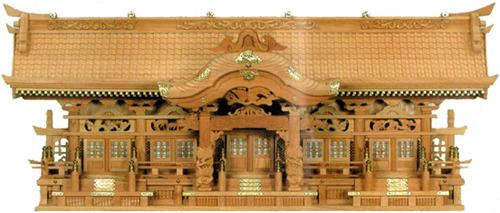 【開梱設置無料】 神棚 彫刻五社 欅 切妻 高級 送料無料 通販 【kam】