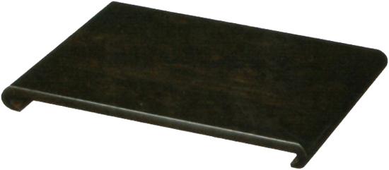 花台 木製 床の間 和風 敷板 黒檀調 飾台 日本製 飾板 国産 置床 高級 置き床 おしゃれ 敬老の日 送料無料 通販 クリ台 MK6728 【kam】