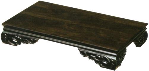 花台 木製 床の間 黒檀調 敷板 国産 敷き板 日本製 飾台 高級 飾り台 おしゃれ 置床 和風 敬老の日 送料無料 通販 MK6740 【kam】