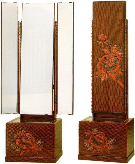 Interior Marudai 鎌倉彫ri Za Mirror Dressing Table Dresser Triple