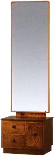 座鏡 一面鏡 鏡台 ドレッサー 和風 化粧台 コンパクト メイク台 木製 日本製 国産 送料無料 通販 MK5881 【kam】