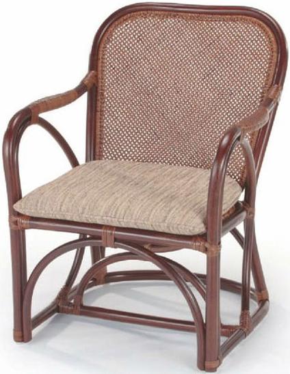 ラタン アームチェアー 籐 パーソナルチェアー アジアン ダイニングチェアー 肘付き 椅子 1人掛け 送料無料 通販 A-27CN 【ire】