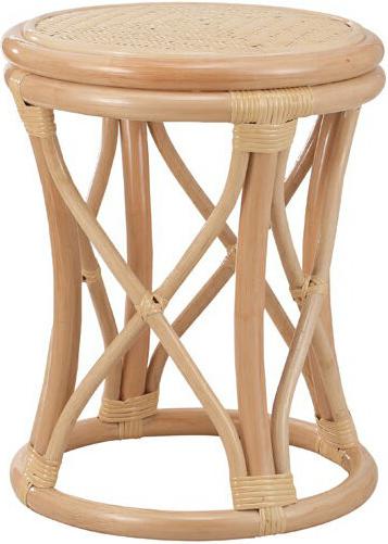 スツール 籐 丸スツール ラタン 丸椅子 脱衣室 脱衣場 アジアン 和モダン 送料無料 通販 S-12-3N 【ire】