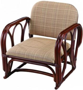 ラタン アームチェアー 籐 パーソナルチェアー アジアン 椅子 肘付き 1人掛け 和風 送料無料 通販 A-77SD 【ire】