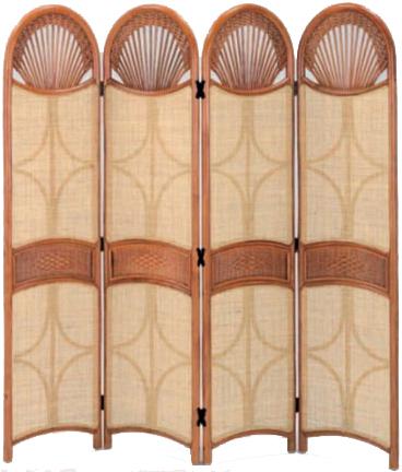 アジアン家具 ラタン 籐 パーティション 4連 パーテーション 衝立 アジアン 間仕切り 和風 スクリーン 送料無料 通販 S-128-4LA 【ire】