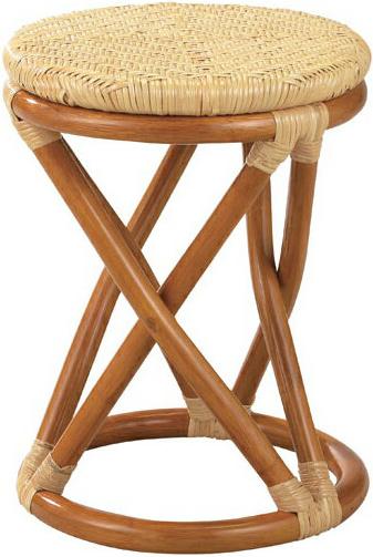スツール ラタン 丸スツール 籐 脱衣場 丸椅子 脱衣室 和モダン アジアン 北欧 送料無料 通販 S-10A 【ire】