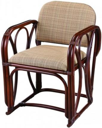 ラタン アームチェア 籐 パーソナルチェア アジアン 椅子 肘付き 1人掛け 和風 送料無料 通販 A-77LD 【ire】