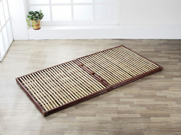 すのこベッド シングルサイズ スノコベッド シングルベッド 2分割 すのこベット 籐 スノコベット ラタン シングルベット アジアン 送料無料 通販 W-007D 【ire】
