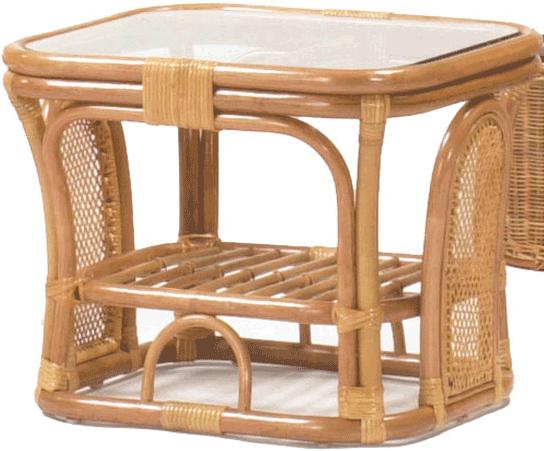 リビングテーブル ローテーブル ガラステーブル 籐 センターテーブル ラタン サイドテーブル アジアン コーヒーテーブル 送料無料 通販 1601 【inc】