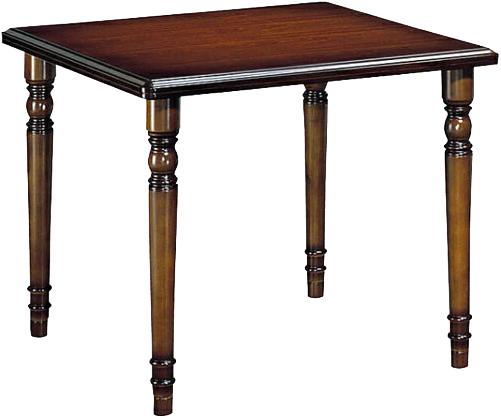 カリモク 食堂テーブル 正方形 ダイニングテーブル 幅85cm 食卓テーブル 木製 アンティーク調 クラシック 高級 国産 日本製 送料無料 通販 COLONIAL コロニアル DC3300JK 【kar】