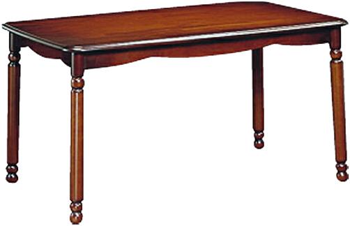 カリモク 食堂テーブル 幅135cm ダイニングテーブル 無垢 食卓テーブル 木製 アンティーク調 クラシック 高級 国産 日本製 送料無料 通販 COLONIAL コロニアル DC4640NK 【kar】
