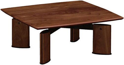 【開梱設置無料】 カリモク家具 センターテーブル ウォールナット リビングテーブル 北欧 ローテーブル 木製 無垢材 正方形 TE2412XR 国産 日本製 送料無料 通販 【kar】