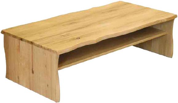 センターテーブル 無垢材 リビングテーブル 木製 ローテーブル 幅120cm 北欧 カントリー D-oak CテーブルA 起立木工 送料無料 通販 【kir】【smtb-F】