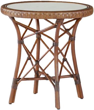 サイドテーブル 籐 ガラステーブル ラタン 丸テーブル アジアン コーヒーテーブル おしゃれ リビングテーブル 和モダン 送料無料 通販 【kaz】