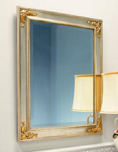 ウォールミラー アンティーク調 壁掛け鏡 クラシック 壁掛けミラー おしゃれ 吊り鏡 木枠 北欧 モダン ロマンティック 高級 縦横兼用 アルテジャパン 送料無料 通販 MB-3853 【art】【smtb-F】