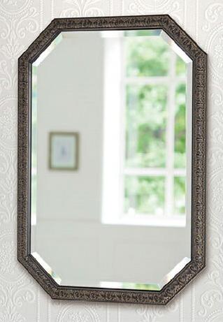 ウォールミラー アンティーク調 壁掛け鏡 おしゃれ 壁掛けミラー 八角形 吊り鏡 木枠 八角鏡 エレガント 風水 高級 アルテジャパン 送料無料 通販 FS-3980BK-04 【art】【smtb-F】