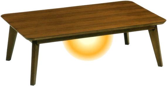コタツテーブル 幅120cm こたつテーブル 長方形 家具調コタツ 北欧 家具調こたつ おしゃれ 暖卓 和風 ローテーブル ウォールナット 送料無料 通販 スイート 【mom】