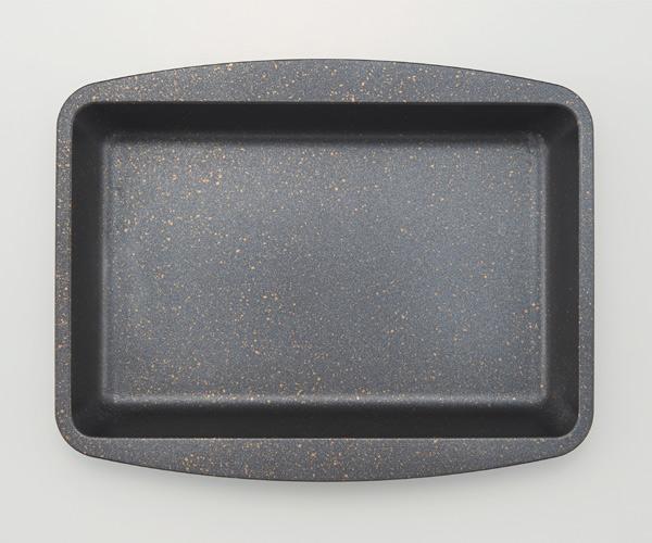 グリルプレート グリル専用深型トレー マーブルコート 20×25.5cm ( グリル用トレー グリル用トレイ 深型トレイ グリル ガスグリル用 IHグリル用 深型プレート 角型 レクタングル 長方形 キッチン用品 調理器具 調理用品 )