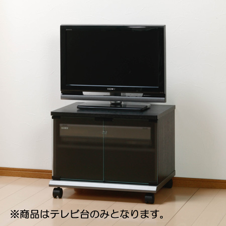 Tv 20 Inch Black Closed Type Compact Av Board Storage Snack Make Stand Rack Lowboard Wooden Casters P25jan15