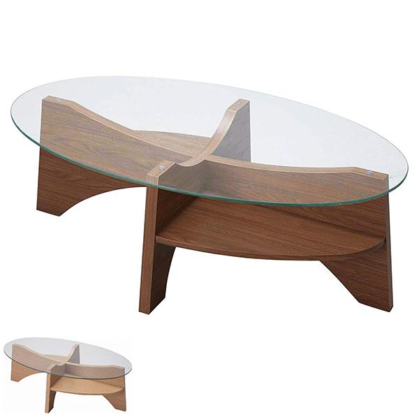 オーバルガラステーブル ( センターテーブル リビングテーブル ローテーブル コーヒーテーブル 机 送料無料 ) 【5000円以上送料無料】