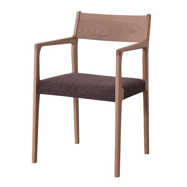 アームチェア ダイニングチェアー 天然木 オーク 日本製 座面高44cm ( 送料無料 ダイニングチェア 椅子 完成品 イス いす チェアー チェア 食卓椅子 天然木 オーク ナチュラル シンプル 日本製 国産 )【39ショップ】