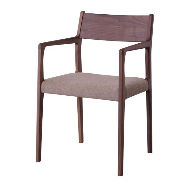 アームチェア ダイニングチェアー 天然木 ウォールナット 日本製 座面高44cm ( 送料無料 ダイニングチェア 椅子 完成品 イス いす チェアー チェア 食卓椅子 天然木 ウォールナット ナチュラル シンプル 日本製 国産 )【39ショップ】