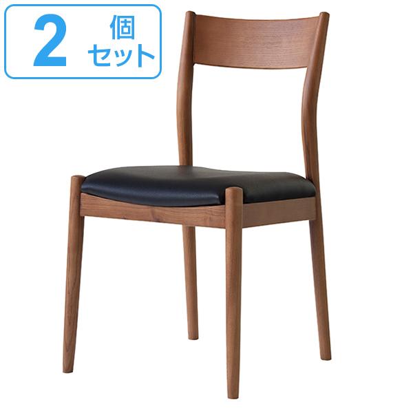 チェア 座面高48cm 2脚セット オフィス 椅子 イス 合皮 木製 天然木 ( 送料無料 いす ダイニングチェア 木製チェア 食卓椅子 リビングチェア 木製椅子 ダイニング 食卓 おしゃれ 北欧 木目 ナチュラル リビング )【39ショップ】