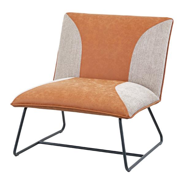 ソファ 幅72cm 1人掛 チェア ソフトレザー ソファー 椅子 イス ( 送料無料 いす 腰掛け チェアー 一人掛け リビング ダイニング おしゃれ 背もたれ 肘掛けなし デザインチェア )【39ショップ】