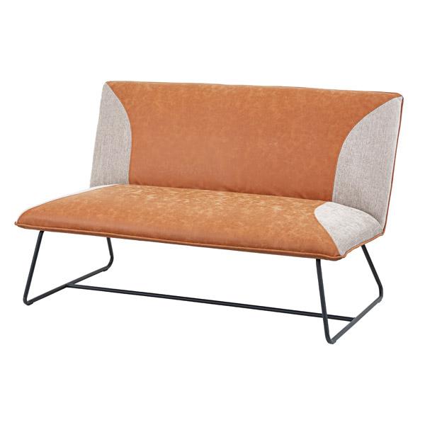ソファ 幅124cm 2人掛 チェア ソフトレザー ソファー 椅子 イス ( 送料無料 いす 腰掛け チェアー 二人掛け リビング ダイニング おしゃれ 背もたれ 肘掛けなし デザインチェア )【39ショップ】