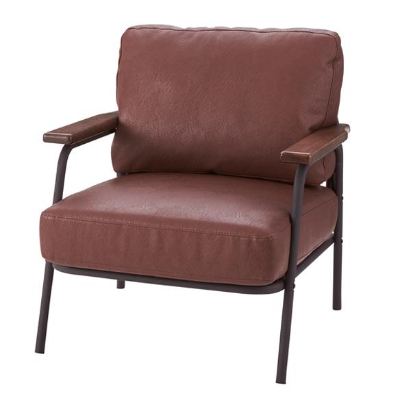 ソファ 幅71cm 1人掛 ソフトレザー ひじ掛け チェア 椅子 ソファー ヴィンテージ調 ( 送料無料 一人掛け フロアソファ リビングソファ 肘付き 肘掛け チェアー いす イス 腰掛け リビング おしゃれ )【39ショップ】