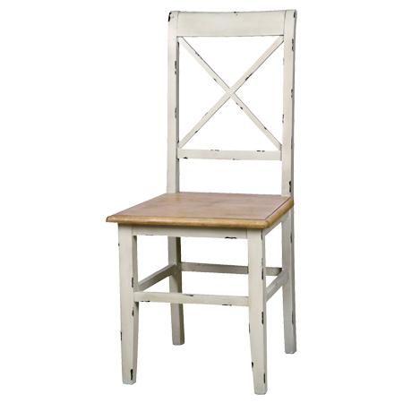 ダイニングチェア 椅子 ブロッサム シャビー調 天然木製 ( 送料無料 フレンチカントリー エイジング加工 チェアー いす シャビーシック 素朴 ) 【5000円以上送料無料】