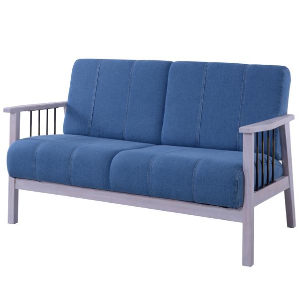 ブリジット 2人掛 ( 送料無料 チェア アームチェアー 天然木 椅子 いす イス 二人かけ 二人用 2人用 肘掛け ホワイト 白 )【5000円以上送料無料】