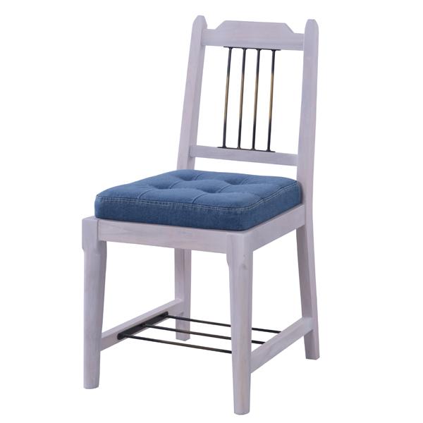 ブリジット ダイニングチェア ( 送料無料 チェア いす イス 天然木 椅子 完成品 アームレスチェア 一人かけ 一人用 1人用 肘掛けなし ホワイト 白 )【39ショップ】