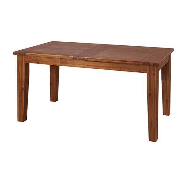 ダイニングテーブル 天然木 レトロ調 幅150cm ( 送料無料 無垢 テーブル 食卓 リビングテーブル 机 木製 4人掛け 4人用 四人用 ダイニング デスク 天然木製 )【5000円以上送料無料】